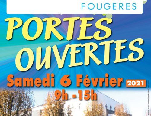 INSCRIPTIONS AUX PORTES OUVERTES -SAMEDI 6 FEVRIER DE 9H A 15H (sous réserve de la situation sanitaire)