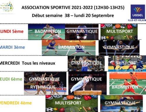 Association sportive 2021